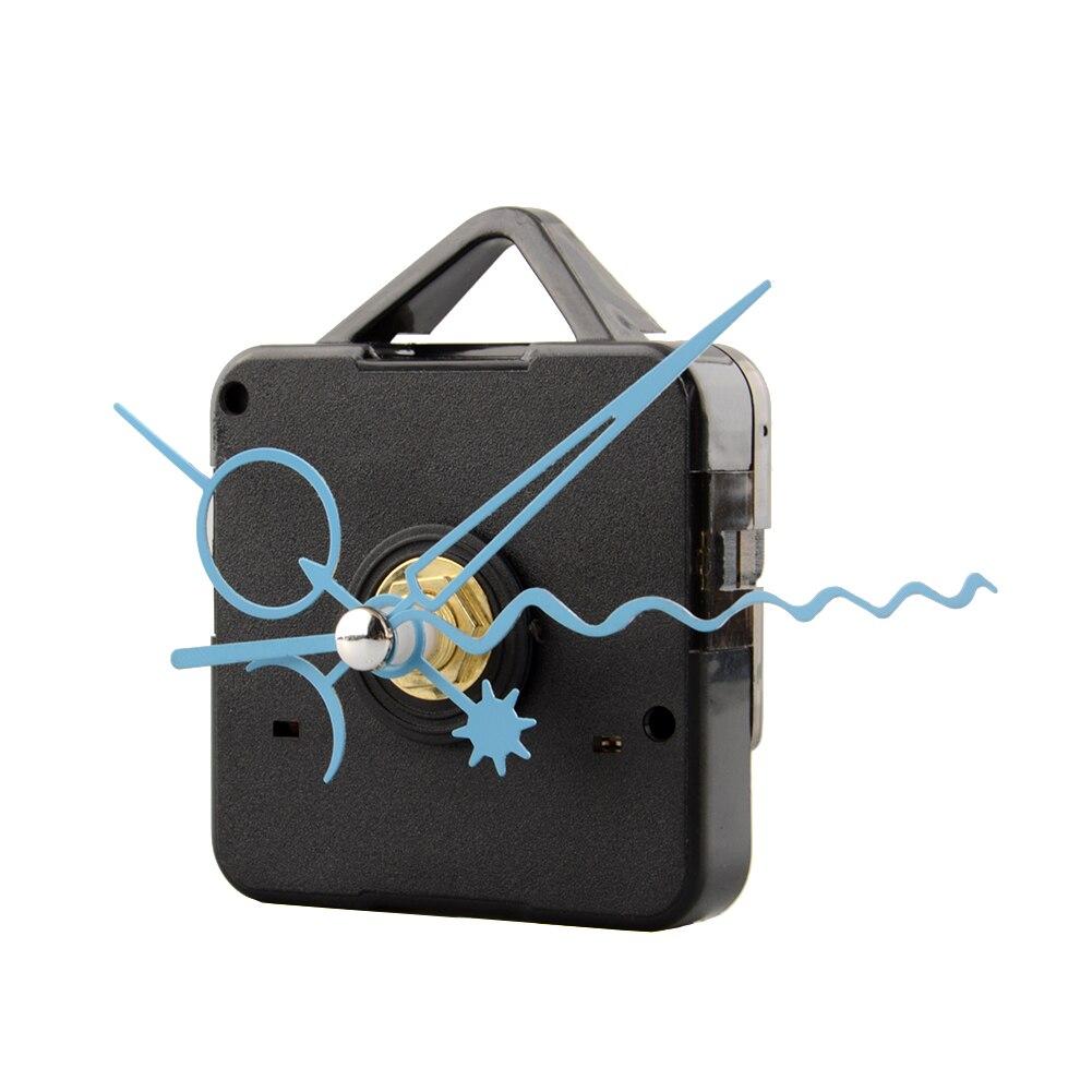 Silent Quartz Clock Movement Mechanism Blue Hand Replacement Home Decoration Tools Quiet Clock Parts Accessories New