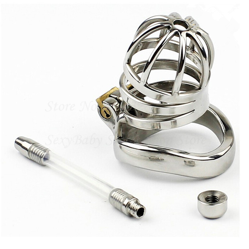 304 Stainless Steel Chastity Belt Penis Cage Cock Ring Sleeve Male Chastity Device With Urethral Catheter BDSM Sex Toys For Men on the slow train again