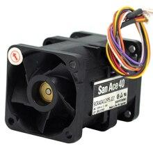 SANYO 9CRA0412P5J22 DC 12 В 1.4A 4056 4 см 40 мм 1U чехол инвертор сервера осевые вентиляторы охлаждения кулер
