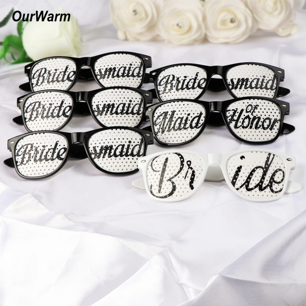 OurWarm 6pcs Wedding Photo Booth Props Funny Party Glasses Team ...