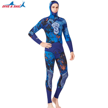 3MM Neoprene Spearfishing Wetsuit Full Body Two-piece Set With Vest For Men Underwater Fishing Hunting Diving Swimming Wetsuits