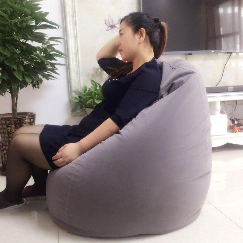 Pouf canapé couverture pour salon balcon Tatami fenêtre haricot sac chaise toit ouvrant canapé meubles de maison paresseux pouf lits pour adulte