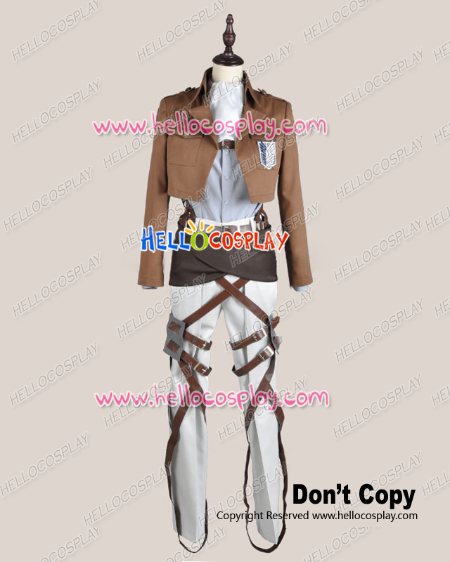 Attack On Titan Shingeki No Kyojin Cosplay Levi Eren Scouting Legion Costume Cloth Ver H008