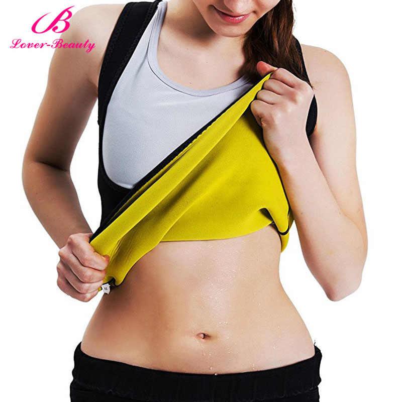 c5bcc0ba25 Lover Beauty Dropship Body Shaper Tummy Fat Burner Sweat Tank Top Weight  Loss Workout Shapewear Neoprene