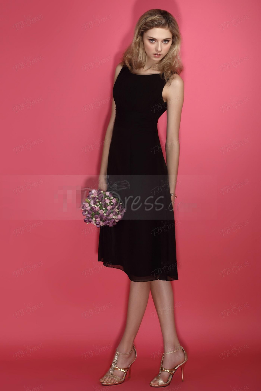 Negro clásico de La Boda de dama de Honor Vestidos 2016 Elegante ...
