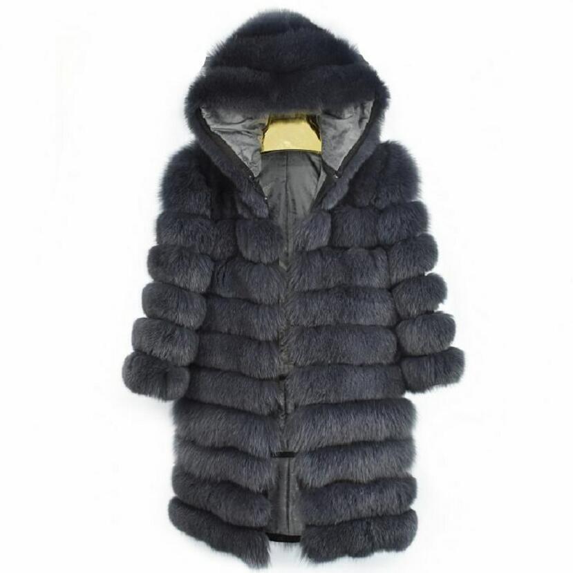 2018new réel fourrure de renard dames en cuir manteau de fourrure dames amovible variable vest couverture épais hiver chaud de mode high street s