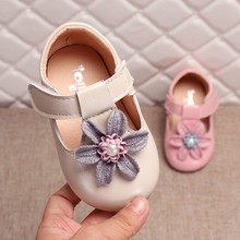 MUQGEW Baby Girls Shoes Toddler Infant Kids Elegant Flower Single Princess Casual Shoes Children Leather Shoes For Girls 3Y-8Y