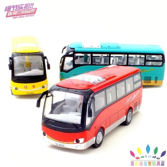 Child school bus alloy bus car model toy acoustooptical WARRIOR sightseeing bus