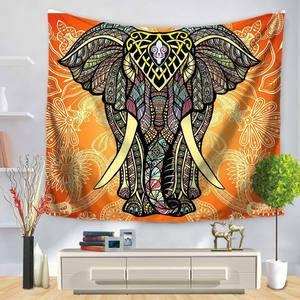 Image 3 - Индийский Слон Настенный Гобелен Мандала Цветочный Ковер шикарное богемное украшение детская комната пляжное полотенце Племя Стиль Декор