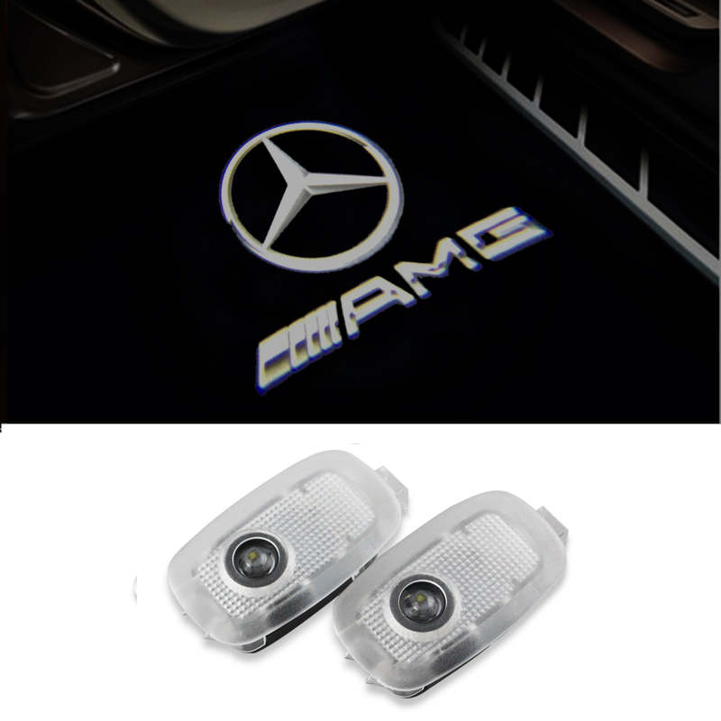 2X Car Styling LED Car Door Courtesy Lights Laser Projector Logo Ghost Shadow Light for Mer Cedes Benz S Class W221 W216 new 2pcs pair high power led ghost shadow light logo projector vehicle door courtesy laser for bmw brand car styling logo design