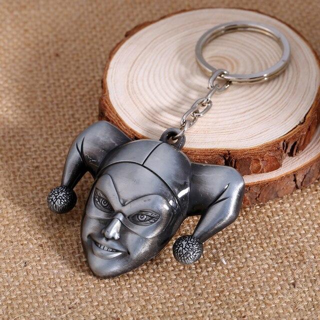 Harley Quinn Keychain Clown Metal