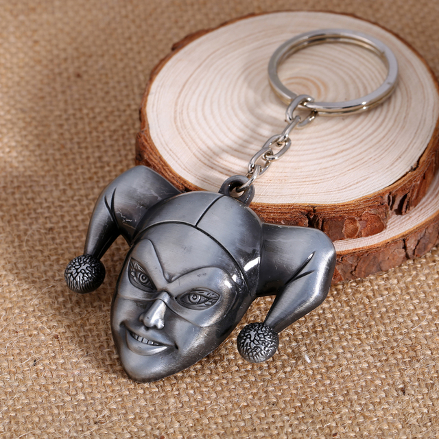 Harley Quinn Keychain Clown Metal