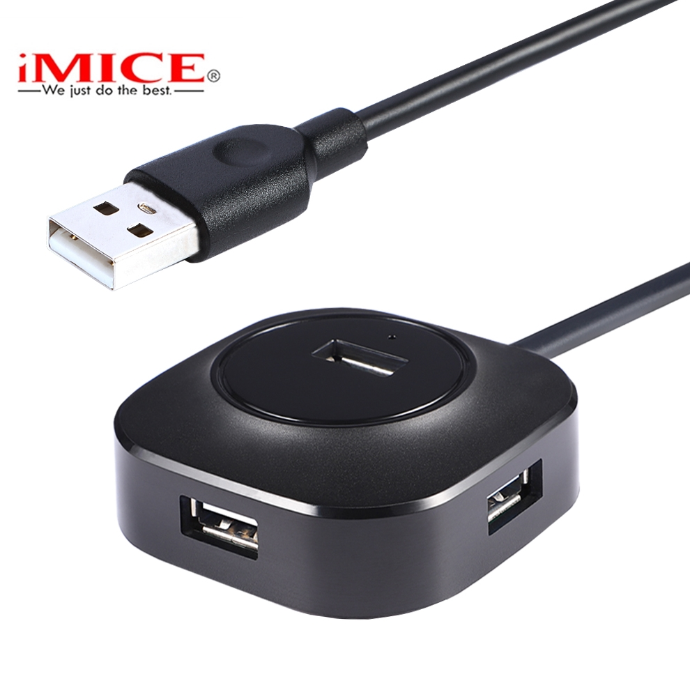 IMice USB HUB 2.0 Micro Usb Splitter 4 Ports Cable 25cm 100cm Distributor Multi Usb Hab 2.0 For PC