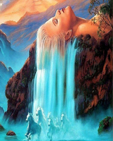 Wall Art White Hair Waterfall Quadros Landscape Pictures Painting By Numbers DIY Digital Oil Painting On