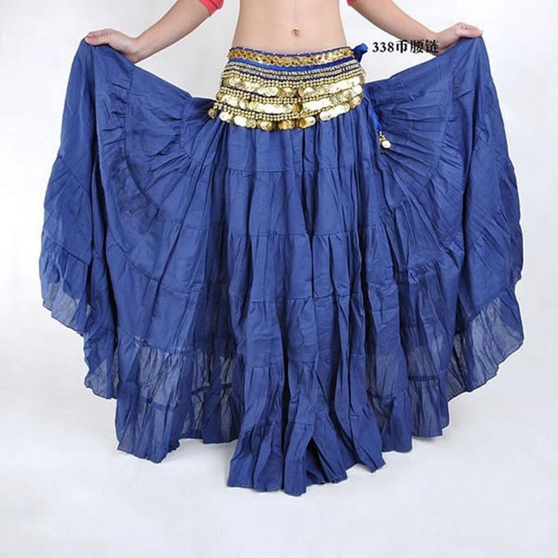 Hot Fashion Tribal Bohemia Long Skirt Swing Gypsy Skirts Women Belly Dance Ballroom Costume Full Circle Dress 16 Colors