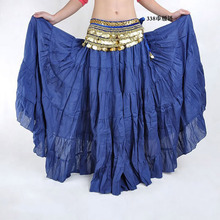 Hot Fashion Tribal Bohemia Long Skirt Swing Gypsy Skirts Women Belly Dance Ballroom Costume Full Circle Dress 16 Colors