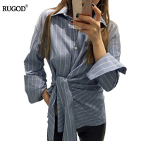 Women Spring Summer 2017 Tops Cotton Blouse Women Shirts New Striped Plus Size Striped Casual Ladies