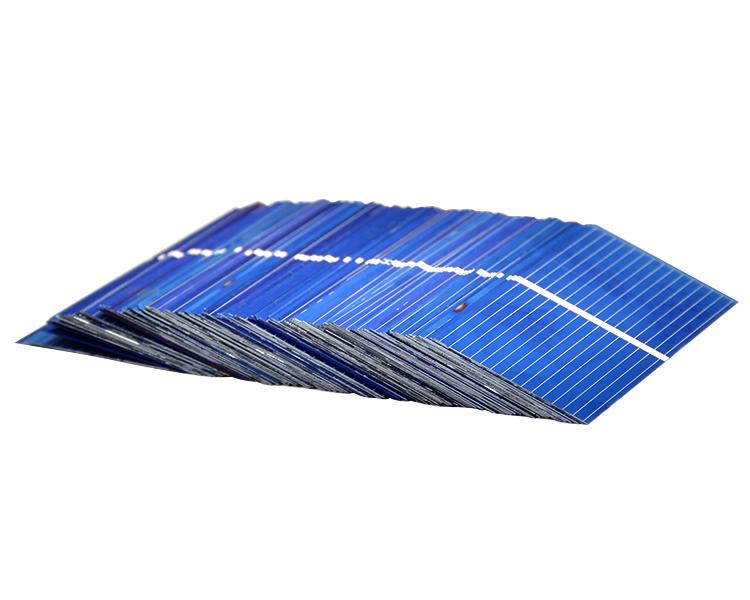 100Pcs Solar Panel China Painel Solar Polycrystalline Silicon Placa Solar DIY Panneau Solaire Solar Cells 52x26MM 0.45V 0.25W 7
