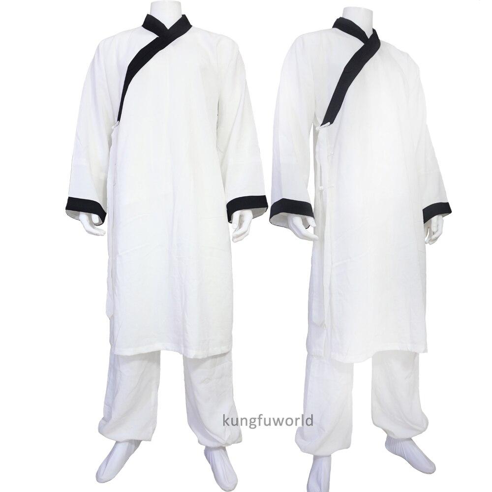 Даосский костюм кунг-фу тай-чи боевые искусства крыло Чунь ушу униформа шаолин монашеские одежды куртка и брюки 25 цветов Лен
