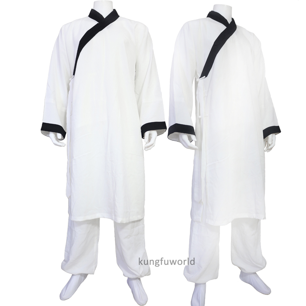 Custom Make Traditional Monk Taoist Kung Fu Tai Chi Suit Martial Arts Wing Chun Wushu Uniforms 24 Colors