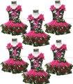 День рождения 1-й 2-й 3-й камуфляж топ рубашки ярко розовый атласной отделкой юбка девушки NB-8Y MAPSA0641
