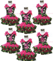 De aniversário 1º 2º 3º Camouflage Top camisa rosa quente cetim guarnição saia da menina nb-8a MAPSA0641