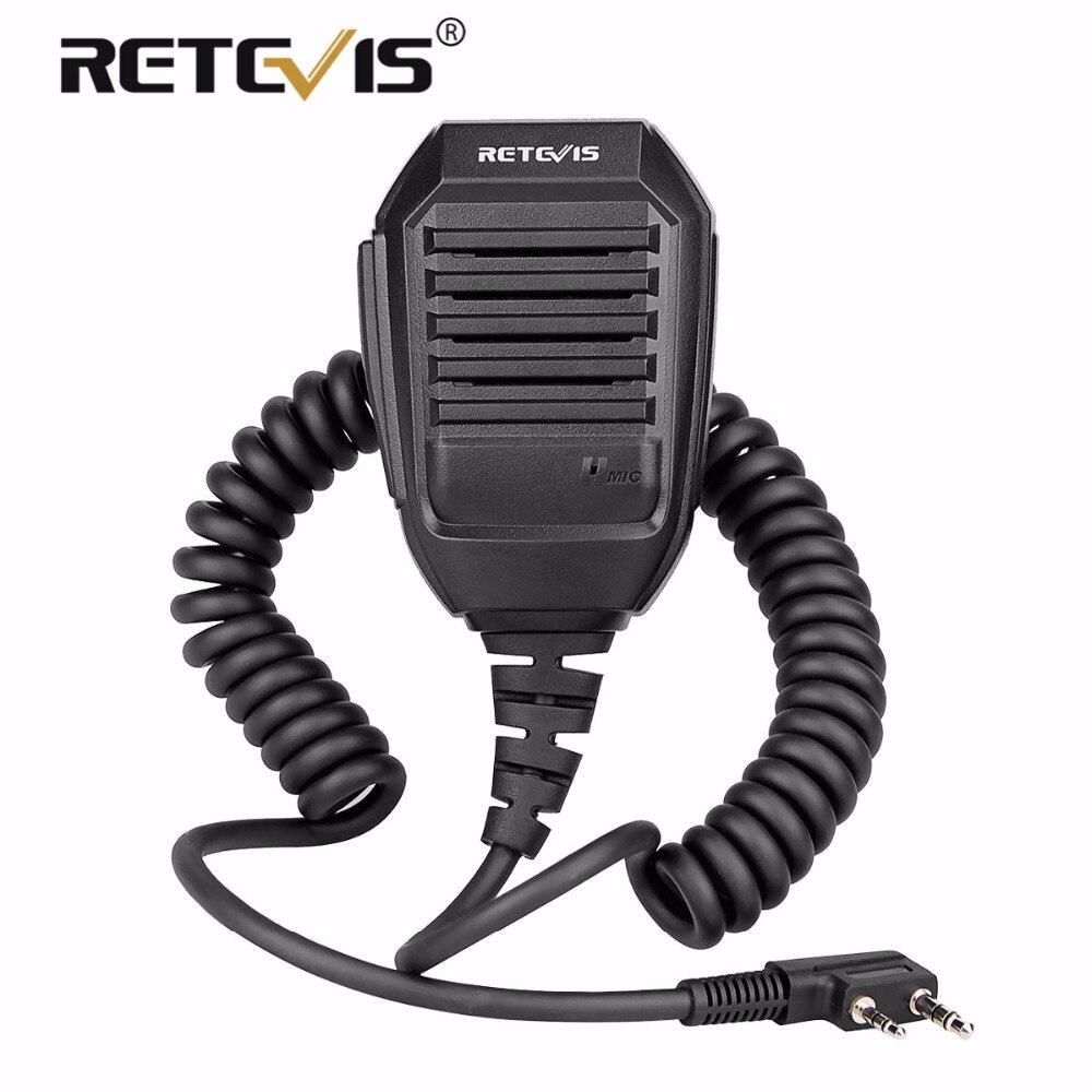 Retevis RS-113 Handliche Lautsprecher Mikrofon 2000D Kevlar Kabel Für Kenwood Baofeng UV5R UV82 H777 RT21 RT22 RT3 RT5R Walkie Talkie