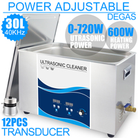 Ultrasonic Cleaning Equipment 30L Bath Stainless Steel 720W 40khz Series Industrial Ultrasound Cleaner Engine Car PCB Lab Dental
