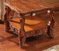 Marble Solid Wood Coffee Table Living Room Sofa Side Table