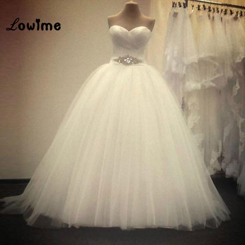 Plesové šaty Svatební šaty Bílé svatební šaty Vestido De Noiva Off Rameno Svatební šaty