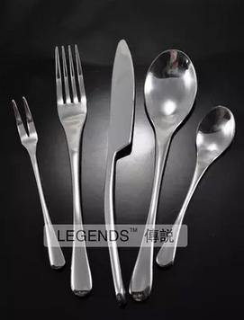 german export stainless steel water drop shape fork forks knife cutlery tableware dinning set 2set