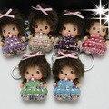 Супер милые маленькие обезьяны кукла автомобиль ключи Имитация Керамической соска Кики прекрасный ключ подвеска Леди мешок автомобиля Кулон