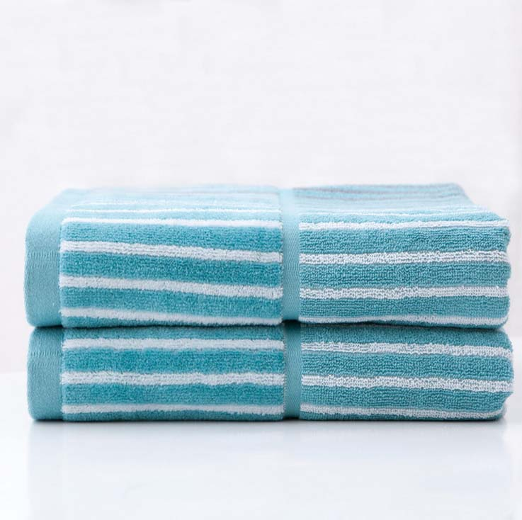 Aliexpress 2 Pieces Lot 100 Cotton Striped Hand Towel Face Towels Bathroom For S 35 76cm High Quality Bath Set From Reliable