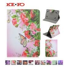 Fashion Butterfly flower painting Leather Stand Case Cover For Huawei Honor T1-701u T1 701u 7