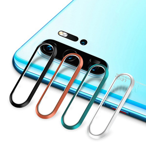 Image 3 - Temperli cam için Huawei onur 30 Pro Nova 7 Metal kamera Lens koruyucu halka ekran koruyucu P30 Pro P40 lite film len