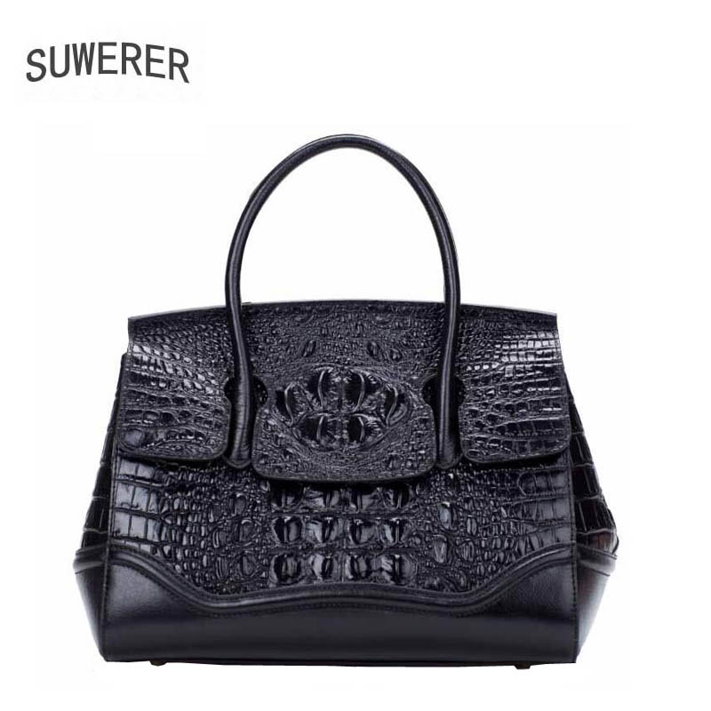 SUWERER2017 new high-quality fashion luxury brand handbag genuine leather shoulder bag counter genuine, female well-known brands