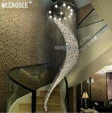 Big Large Spiral Crystal Chandelier Lighting Hotel Villa Crystal Lamp for Staircase, Hallway, Lobby