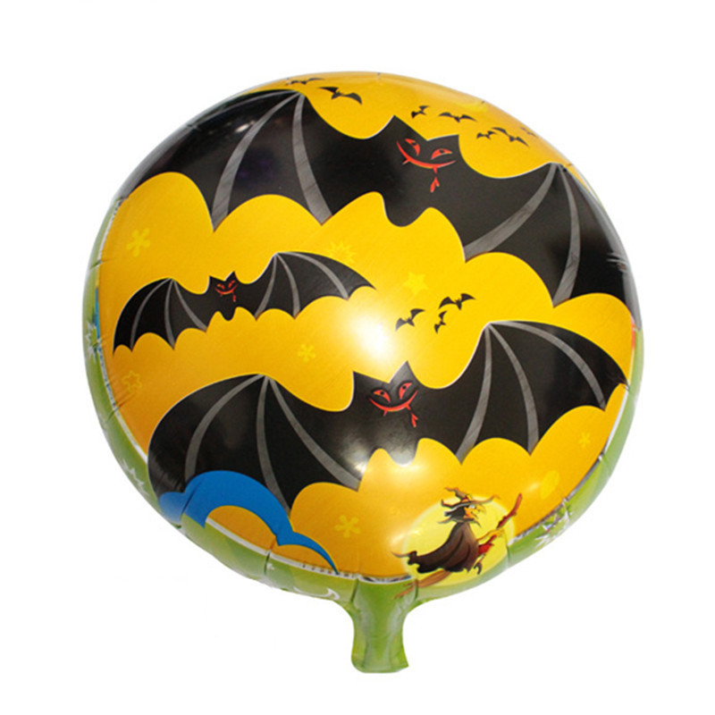 5pcs lots free shipping new 18 inch aluminum balloons wholesale bat halloween decoration party