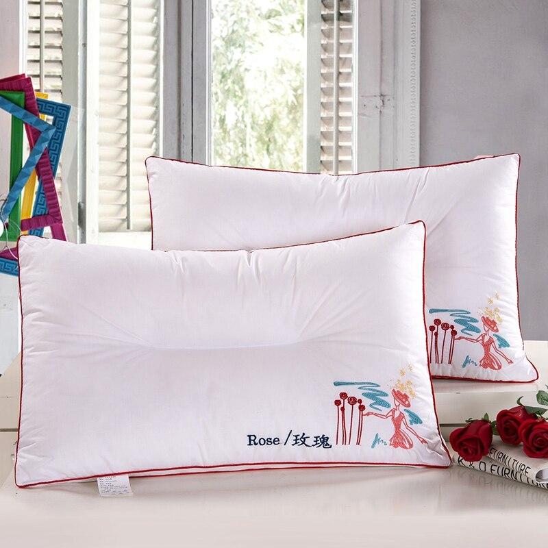 Bed pillows font b health b font font b care b font cervical neck core bedding