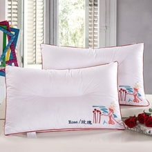 Bed pillows health care cervical neck core bedding pillow 48*74cm,Five star hotel bedding set pillow100% cotton neck pillow