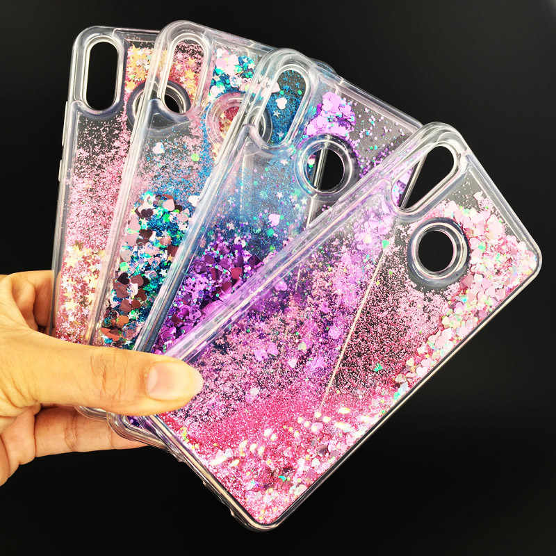 Glitter Liquid Soft TPU Case For Huawei P20 Lite Clear Protection Back Cover On Coque Huawei P 20 Pro P20pro P20lite Phone Cases