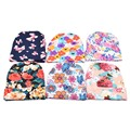 Tendy Flower Printing Baby Hat Pretty Newborn Hospital Hat Baby's 1st Keepsake Newborn Take Home Hat Hair Accessory SW131