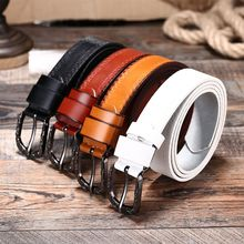 2019 new fashion high quality simple solid belt exquisite retro smooth men and women