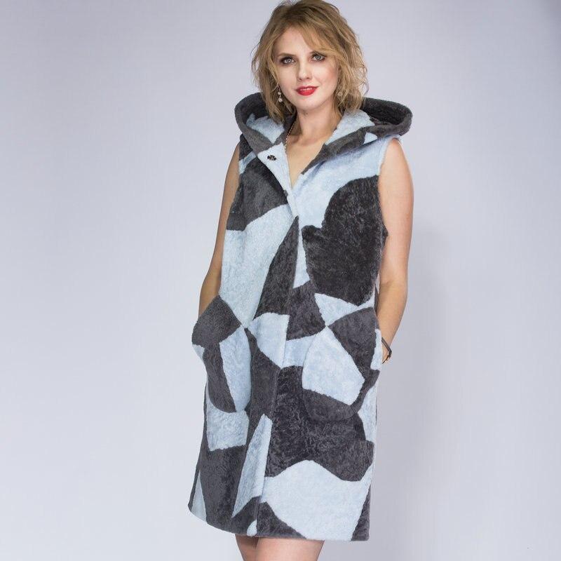 Manteau D'hiver Rue 2018 Mode De Multi Fourrure Berger Gilet Dame Moutons Mince OwnaUqngx