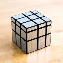 Silver Black Mirror Cube Puzzle Games Children Hand Spinners Fidget Oyuncaklar Plastic Box Cubo Magico 3x3x3 Toys Kids 50D0614