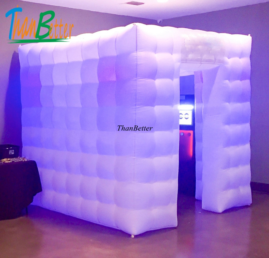 Portable Inflatable Photo Cabin/Inflatable Cube Tent/Led Inflatable Photo Booth 3.0*3.0*2.4M 3x3x2.4Meters
