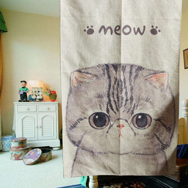 Aliexpress Cute Kitchen Curtains Cat Kids Curtains Room