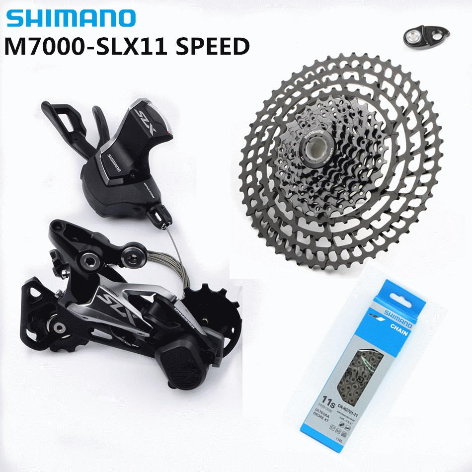 SHIMANO SLX M7000 1x11 11S Speed SUNSHINE 11-50T Full hollow Cassette Groupset Contains Shift Lever & Rear Dearilleur & HG701 shimano slx m7000 1x11 11s speed 11 42t 11 46t groupset contains shift lever