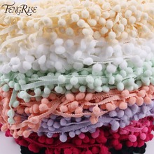 Fengrise бахромой помпоном отделкой ярдов пом кружевной швейные кисточкой материал ткани
