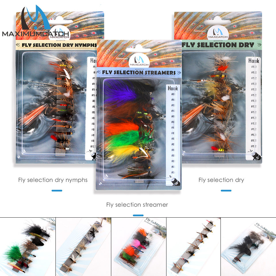 Maximumcatch Fly Flies Set Streamer Dry Nymph Trout Wet Fly Flies #2 #4 #6 #8 #10 #12 #14 10pcs beadhead pm caddis 14 nymphs dry fly fishing trout flies page 5